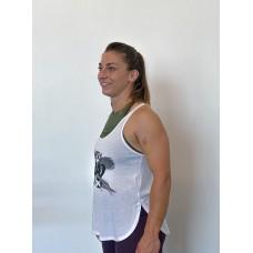 Training tank white BRUSH for women | VERY BAD WOD