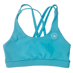 Training bra blue 4 STRAPS LOW CUT TEAL for women | SAVAGE BARBELL