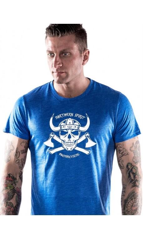 Grossiste T-Shirt Homme Athlète - Blue Viking