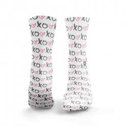 White workout XO LOVE SOCKS pink socks – HEXXEE SOCKS
