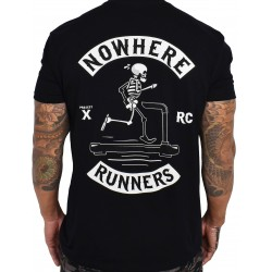 Training t-shirt black NOWHERE RUNNERS for men   PROJECT X