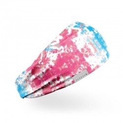Workout elastic headband red and blue TIE and DYE| HEXXEE