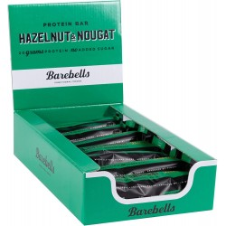 Pack of 12 Protein bars HAZELNUT & NOUGAT  BAREBELLS
