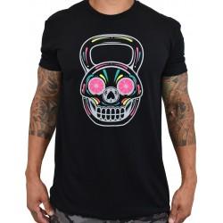 Training t-shirt black NEON DIA KB for men | PROJECT X