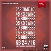 WOD Training Distribution ⚡️Cap Time 10'45 Kettlebell Swing 15 Burpees 35 Kettlebell Swing 20 Burpees 25 Kettlebell Swing 25 BurpeesKB 24 / 16kgPoste ton résultat en commentaire 🙌Training-distribution.com 💫#trainingdistribution #wod #training #kettlebell #burpees