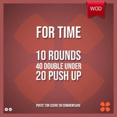WOD Training Distribution ⚡️For Time10 Rounds40 Double Under 20 Push upPoste ton résultat en commentaire 🙌 Training-distribution.com 💫#trainingdistribution #wod #training
