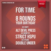 WOD Training Distribution ⚡️For Time8 rounds of your birthdayXX (day) alt devil pressXX (month) strict hspuXX (year) Double under * For up to 2000, age + 30DB 15/22,5kgTraining-distribution.com LIEN DANS LA BIO 💫#trainingdistribution #wod #training