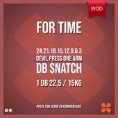 WOD Training Distribution ⚡️For Time24.21.18.15.12.9.6.3Devil Press one arm DB Snatch1 DB 22,5 / 15kgPoste ton résultat en commentaire 🙌Training-distribution.com 💫#trainingdistribution #wod #training