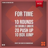 WOD Training Distribution ⚡️For Time30 Double Under 20 Push up 10 Box JumpPoste ton résultat en commentaire 🙌Training-distribution.com LIEN DANS LA BIO 💫#trainingdistribution #wod #training