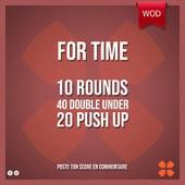 WOD Training Distribution ⚡️For Time10 Rounds40 Double Under 20 Push upPoste ton résultat en commentaire 🙌 Training-distribution.com 💫#trainingdistribution #wod #training